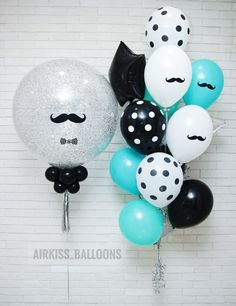 Paint The Mustache And Dots On Balloons