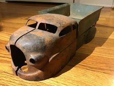 Vintage Metal, Vintage Toys, Wrecker Service, Hobby Toys, Pedal Cars, Dump Truck, Tin Toys, Toy Trucks, Car Wheels