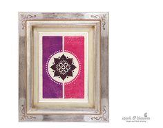 Art Print | Reflection 2 | hand block printed by heidi kalyani at *spark and blossom*
