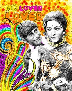 Evergreen Dev Anand and dream girl Hema Malini.
