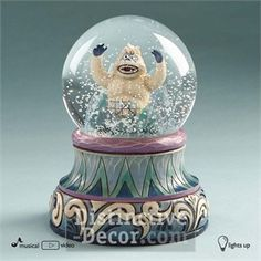 Enesco Jim Shore Abominable Snowman Bumble Light & Motion Waterball 54.99