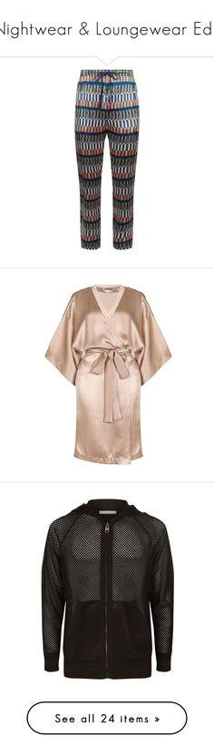 """Nightwear & Loungewear Edit"" by harrods ❤ liked on Polyvore featuring men's fashion, intimates, robes, robe, sleepwear, lingerie, stella mccartney, short bathrobes, bath robes and silk robe"