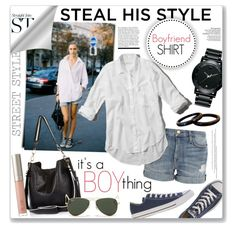 it's a BOY thing... by clovers-mind on Polyvore featuring Abercrombie & Fitch, Current/Elliott, Converse, River Island, Movado, Ray-Ban, Ilia and Rick Owens