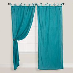 These would work for outdoor canopy coverings for beach wedding- other color available WorldMarket.com: Porcelain Crinkle Voile Curtain