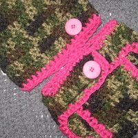 Little Hunting Girl Camo Baby Diaper Cover and Baby Hat Set 3-6 months Baby Shower