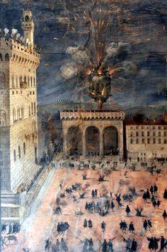 [Palazzo Vecchio - The Fireworks in Piazza della Signoria, c.1560]