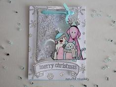 """#8. Scrap & Manualidades. """"Merry christmas"""" shaker card. - http://cryptblizz.com/como-se-hace/8-scrap-manualidades-merry-christmas-shaker-card/"""