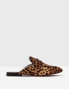 Backless Loafer (Tan Leopard)