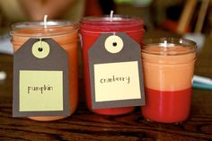 DIY, From Scratch candles. 1 hour + $6 = 1 homemade fall-scented jar candle from scratch