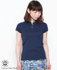 PONT de CHALONS [ポンデシャロン] 丸襟 半袖 コットン ポロシャツ 4色