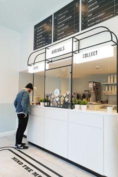 Formroom For Milk Train Cafe Shop Design, Coffee Shop Interior Design, Kiosk Design, Restaurant Interior Design, Commercial Interior Design, Store Design, Retail Interior Design, Interior Shop, Design Web