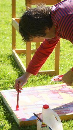 Karl Somers painting in the garden. Photo taken by Nicola Lane Picnic Blanket, Outdoor Blanket, Torah, Garden, Artwork, Prints, Painting, Garten, Work Of Art