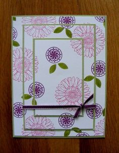 Triple Time stamping using the flower from the Reason to Smile stamp set