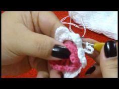 CROCHE - FLOR MODELO 55 - YouTube
