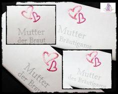 HOCHZEIT ♥ Besticktes Taschentuch ♥ Freudentränen  von *DesignUP Wedding* auf DaWanda.com