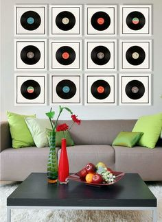Vinyl Records Framed