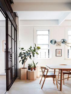 Søren Rose Studio Showcases Scandinavian Modernism in NYC Loft Loft Design, Design Studio, House Design, Exterior Design, Interior And Exterior, Exterior Doors, Bittar, Ville New York, Scandinavian Home
