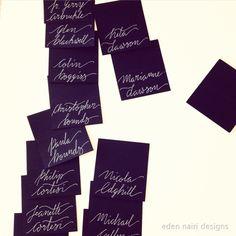 Wedding Placecards wedding calligraphy