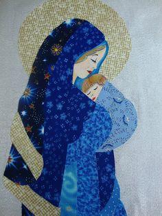 Studio da Berê: Nossa Senhora em patchcolagem