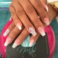 Acrylic Nails, Nails art, white Nails
