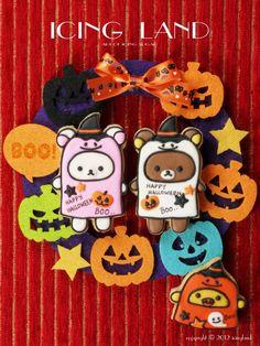Rilakkuma Halloween cookies