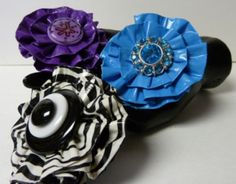 Duck Tape® Button Flower Pins