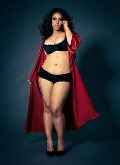 Model Natalie Monet (wearing Hips and Curves) in Plus Model Magazine