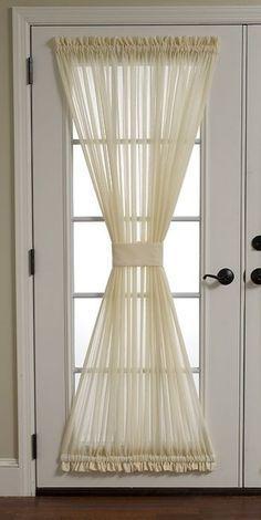 New French Door Decor Ideas Curtains Ideas Blinds For French Doors, French Doors Bedroom, French Door Curtains, Home Curtains, Curtains Living, Hanging Curtains, Curtains With Blinds, Fringe Curtains, Glass Door Curtains