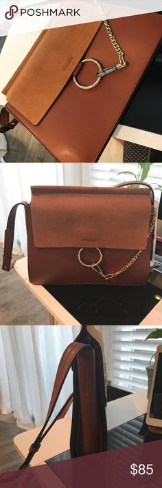 Brown Shoulder Bag Leather and Suede Shoulder Bag• please inspect photos for better ideas of the interior of the bag• interior has a slight imperfection other than that it's a very nice shoulder/bodybag  Bags Shoulder Bags