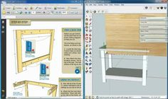 Kreg 3 Sketchup Woodworking, Woodworking Techniques, Woodworking Plans, Build A Farmhouse Table, Photo B, Layered Cuts, Floor Plans, Windows, Rustic