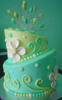 I'm so over topsy turvy cakes, but I love this color combo