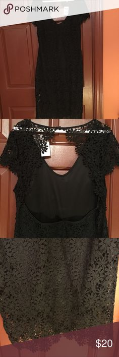 """Open Back Lace Dress, NWT, Size XL Charlotte Russe Open Back Lace Dress, NWT, Size XL, arm pit to arm pit 20"""", length 42"""", lined,  pull over dress 100% polyester Charlotte Russe Dresses Midi"""