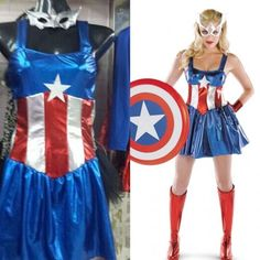 Disfraz Capitan America Mujer #Halloween