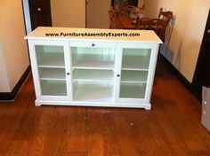 ikea liatorp sideboard assembled in owing mills md by Furniture Assembly Experts LLC