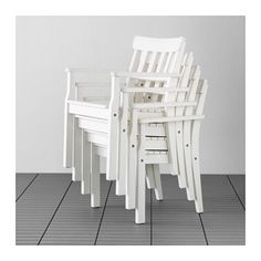 $75 cushions available ÄNGSÖ Chair with armrests, outdoor - white stained, - - IKEA