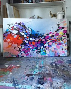 a burst of energy #painting! #clairedesjardins #abstractart