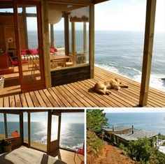 House on the rock with ocean view in Chile