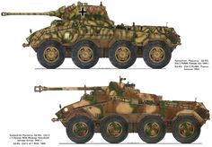 Schwerer Panzerspahwagen ( Heavy armoured reconnaissance car ) 8 x 8 ( SdKfz 234 serie`s )