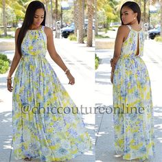"""It's """"Maxi"""" season www.ChicCoutureOnline.com Search: Camille  #fashion #style #stylish #love #ootd #me #cute #photooftheday #nails #hair #beauty #beautiful #instagood #instafashion #pretty #girly #pink #girl #girls #eyes #model #dress #skirt #shoes #heels #styles #outfit #purse #jewelry #shopping"""