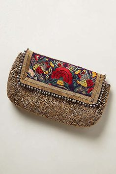 Tapisserie Clutch from Anthropologie. Shop more products from Anthropologie on Wanelo. Handbag Storage, Potli Bags, Unique Purses, Craft Bags, Beaded Bags, Fabric Bags, Urban Chic, Handmade Bags, Handmade Clutch