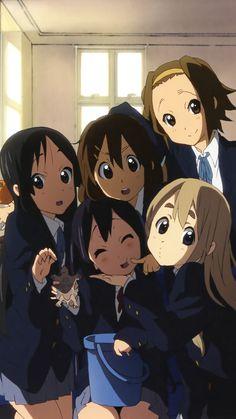 irasawa Yui, Tainaka Ritsu, Akiyama Mio, Kotobuki Tsumugi, and Nakano Azusa Cute Anime Pics, I Love Anime, Animes Wallpapers, Cute Wallpapers, Akira, Lolis Anime, K Om, Manga Kawaii, Anime Friendship