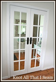 Restyle Relove: White Internal French Door Makeover
