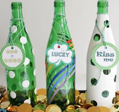 Click Pic for 24 St Patricks Day Decor Ideas | Bottle Centerpiece | St Patricks Day Ideas
