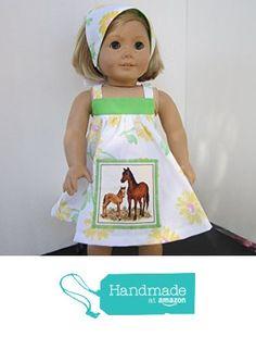 4H Farmgirl Mama & Baby Horse Sundress + Reversible Head Scarf fits American Girl from Pawprint Pals https://www.amazon.com/dp/B06WNZML7D/ref=hnd_sw_r_pi_dp_Kb8MybJRNHXVM #handmadeatamazon