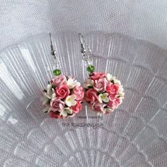 Polymer Clay Jewelry floral earrings Handmade by IraRuzhovych