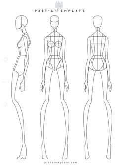 Aadaaabb Fashion Sketchbook Sketch Body Art Exhibition Template Figure Templates