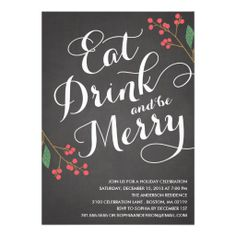 DIY Holiday Party Invitation (customize online with #zazzle)