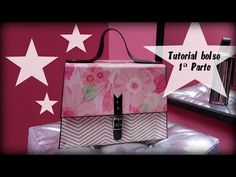 Tutorial bolso 1ª parte. Handbag/Purse scrapbook tutorial. - YouTube
