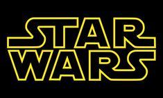 Star Wars gule og sorte filmlogo