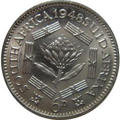 1948 UNION OF SOUTH AFRICA 3 PENCE for R22.00 Union Of South Africa, Old Coins, African Animals, Cottage Ideas, My Land, African History, Afrikaans, Silver Coins, Good Old